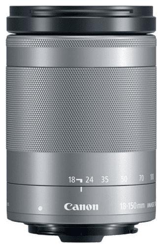 Canon EF-M 18-150mm f/3,5-6,3 IS STM, strieborný