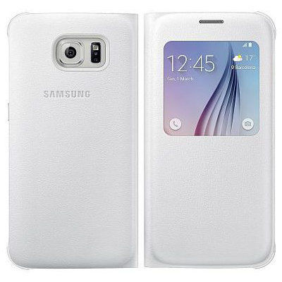 SAMSUNG S-View púzdro EF-CG920PW pre Galaxy S6, Biela
