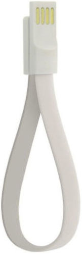 4-Ok Usb-Microusb Magneflat 20 Cm White