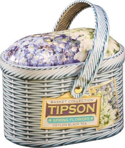TIPSON 5005 Basket Spring Flowers 100g čierny čaj