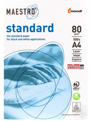 Maestro A4, standard 80g, 500ks - kancelářský papír