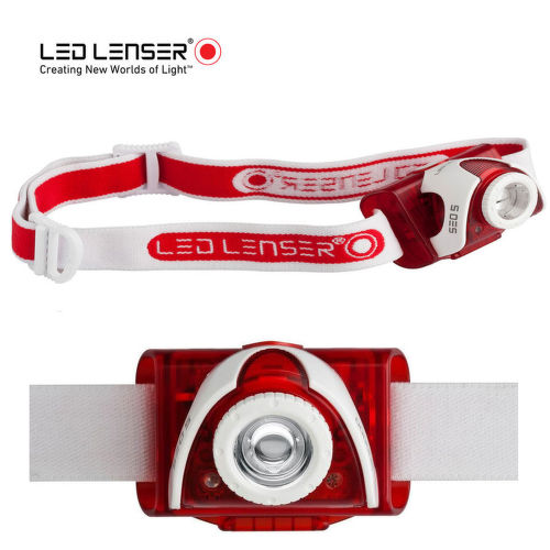LED LENSER SEO 5 RED, LED čelovka_1