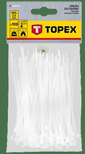 TOPEX 2,5 x 100 mm 100 ks, biela
