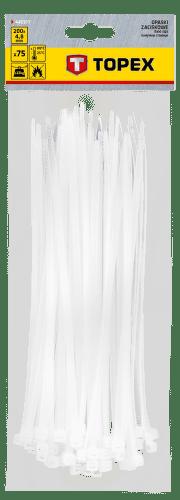 TOPEX 4,8 x 200 mm 75 ks, biela