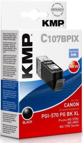 KMP PGI570PG BK XL, C107BPIX recyk. nápl