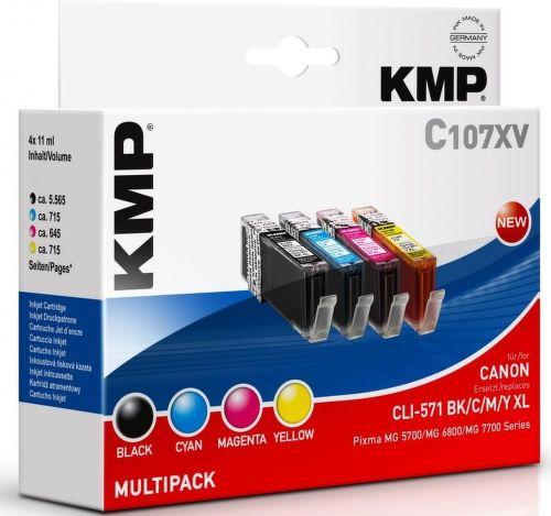 KMP CLI571 BK/CMY XL, C107XV recyk. nápl