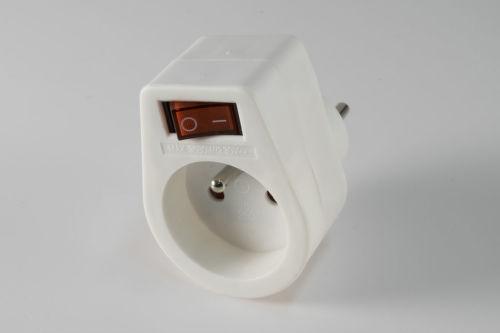 Somogyi NVKF (biela) - zásuvka so spínačom