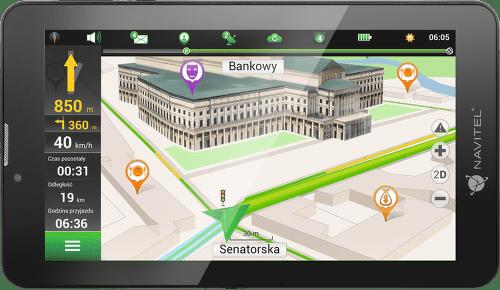NAVITEL T7003G, GPS navigácia