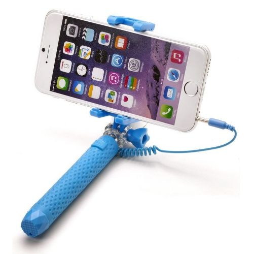 Celly Mini selfie tyč, modrá