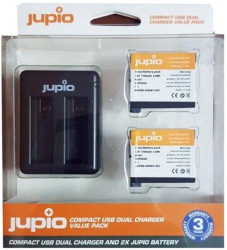Jupio Set 2x batéria GoPro AHDBT-401 HERO4 1160 mAh + USB nabíjačka