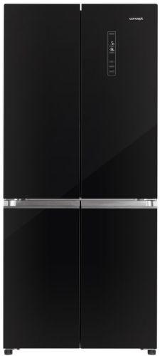 CONCEPT LA8783bc, čierna americká chladnička