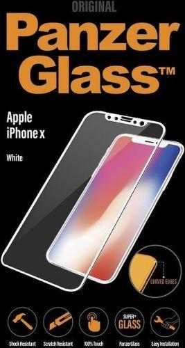 Panzerglass tvrdené sklo pre iPhone X, biele