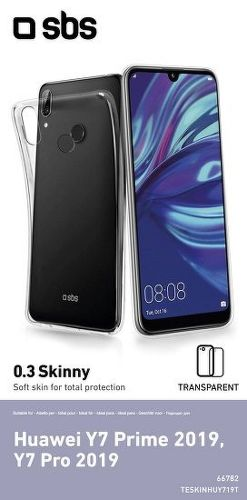 SBS Skinny Cover puzdro pre Huawei Y7 2019/Y7 Pro 2019, transparentná