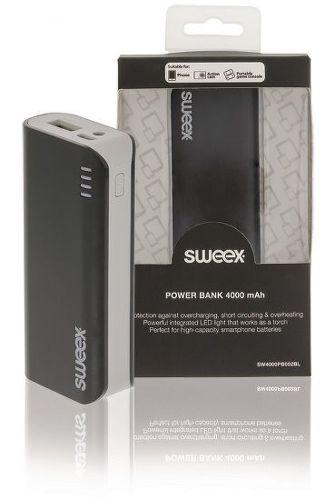 Sweex powerbanka 4000 mAh, čierna