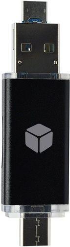 Sturdo USB-C 3v1 čítačka kariet Micro SD, čierna