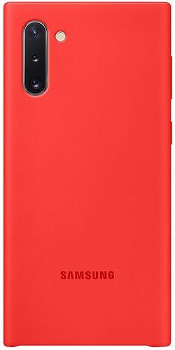 Samsung Silicone Cover pre Samsung Galaxy Note10, červená