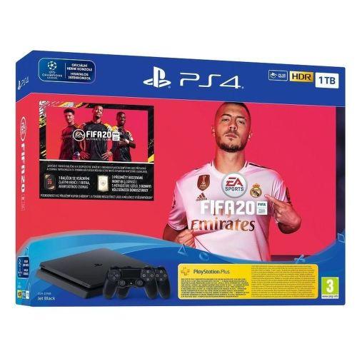 Sony PlayStation 4 Slim 1 TB čierna + 2x DualShock 4 v2 + FIFA 20
