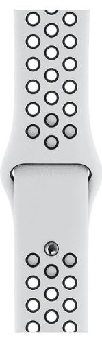 Apple Watch 40 mm Nike športový remienok S/M a M/L, platinový/čierny