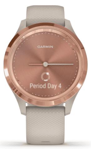 Garmin vivomove 3S ružové zlaté so sivým remienkom