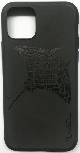 Wilma Matte Manta Eco puzdro pre Apple iPhone 11, čierna