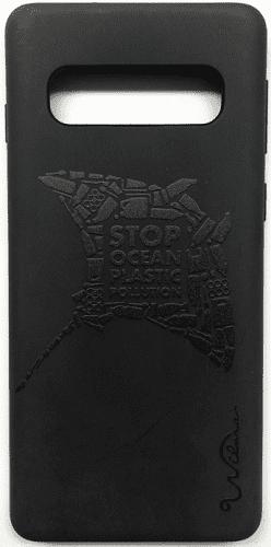 Wilma Matte Manta Eco puzdro pre Samsung Galaxy S10+, čierna