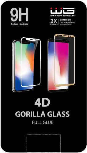 Winner 4D Full Glue tvrdené sklo pre Apple iPhone 7/8, čierna