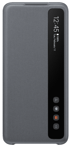 Samsung Clear View Cover puzdro pre Samsung Galaxy S20, sivá