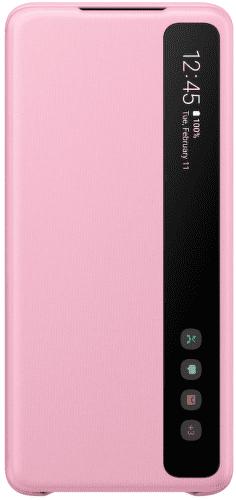 Samsung Clear View Cover puzdro pre Samsung Galaxy S20+, ružová