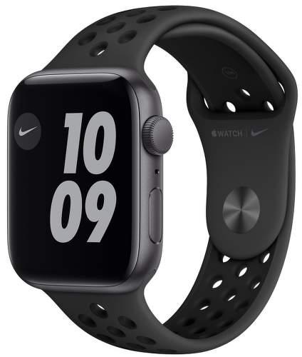 Apple Watch SE Nike 44 mm vesmírne sivý hliník / antracitový / čierny športový remienok Nike