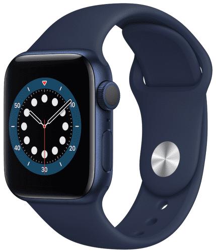 Apple Watch Series 6 40 mm modrý hliník s námornícky modrým športovým remienkom(2)
