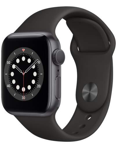 Apple Watch Series 6 40 mm vesmírné sivý hliník s čiernym športovým remienkom-1
