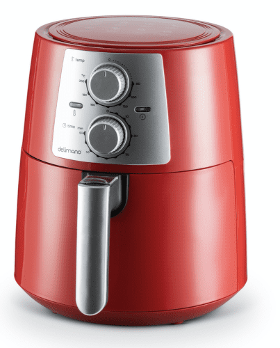 DELIMANO Air fryer PRO RED, Fritéza1