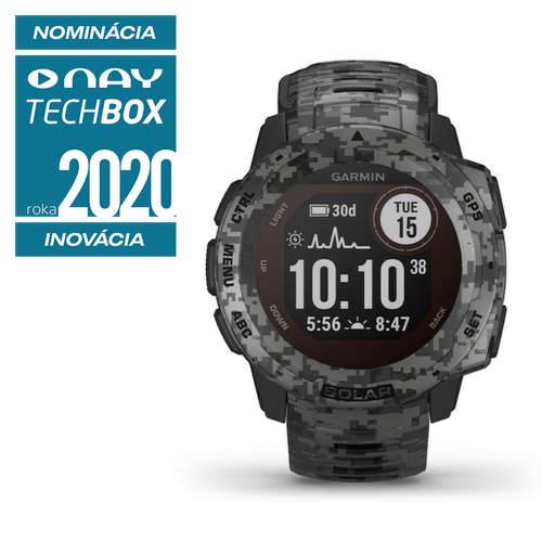 Garmin Instinct Solar smart hodinky graphite camo
