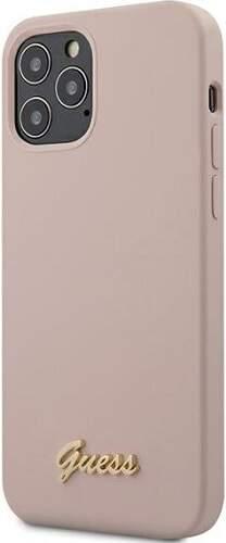 Guess puzdro pre Apple iPhone 12/12 Pro ružová