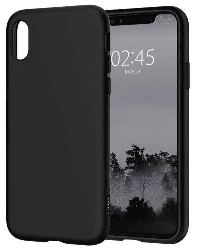 Spigen Liquid Crystal puzdro pre Apple iPhone X, čierne