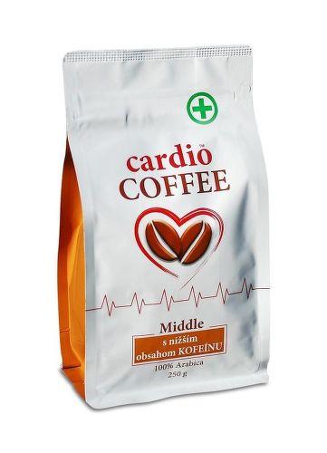 Cardio Coffee Middle se sníženým obsahem kofeinu (250g)