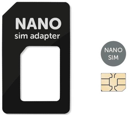 MOBILNET Čierny Nano SIM adaptér (Nano SIM-SIM)