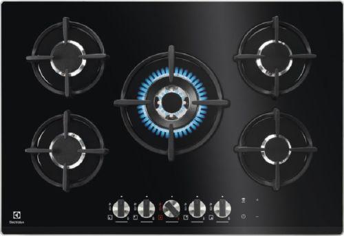 ELECTROLUX KGG7538K, čierna plynová varná doska