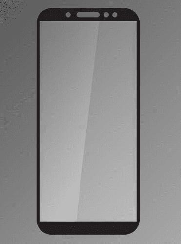 Qsklo ochranné sklo pre Samsung Galaxy A6 2018, čierna