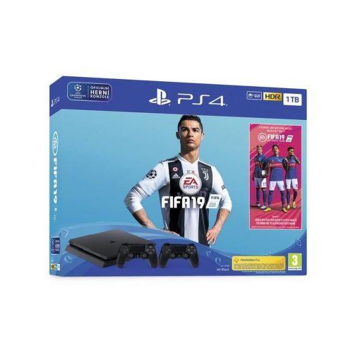 Sony PlayStation 4 Slim 1TB + druhý ovládač  + FIFA 19