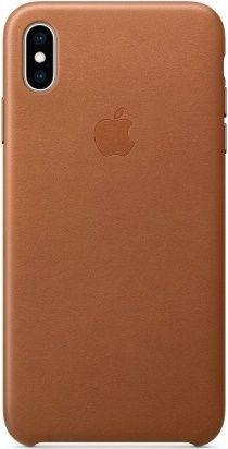 Apple kožené puzdro pre Apple iPhone XS Max, sedlovo hnedá
