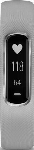 Garmin Vívosmart 4 S/M strieborný so sivým remienkom