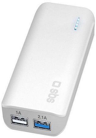 SBS powerbanka 5200 mAh, biela
