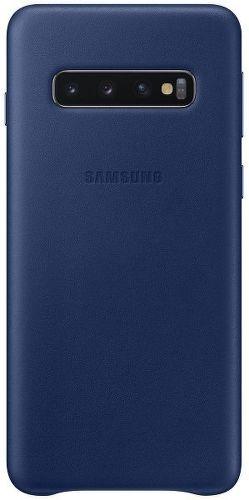 Samsung Leather Case pre Samsung Galaxy S10+, námornická modrá