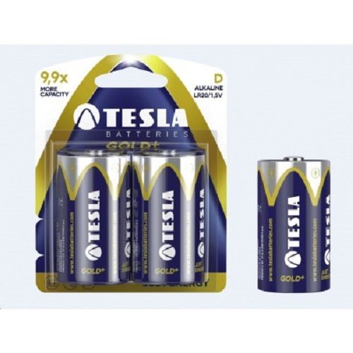 TESLA GOLD+ LR20 2ks, alkalická batéria