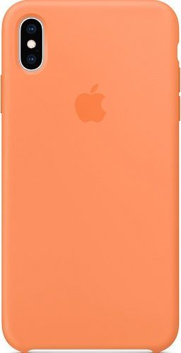 Apple silikónové puzdro pre Apple iPhone Xs Max, oranžová