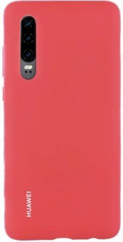 Huawei Silicone Car kryt pre Huawei P30, červená