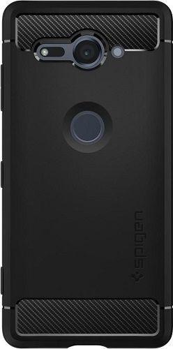 Spigen Rugged Armor puzdro pre Sony XZ2 Compact, čierna