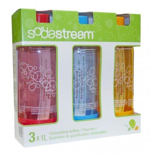 SODASTREAM Fľaša 1l ORANGE/RED/BLUE / Tri Pack