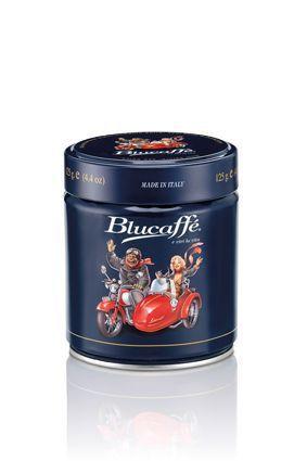 LUCAFFE  Blucaffe 125g, Zrnková káva plechovka